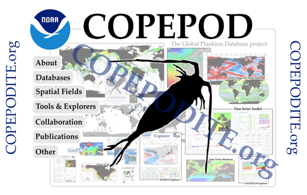 screen shot of the COPEPOD intro page